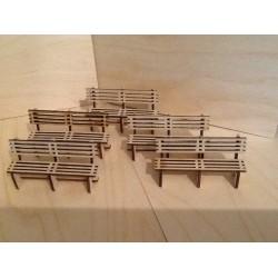 Pack Of Five Platform Bench Seats