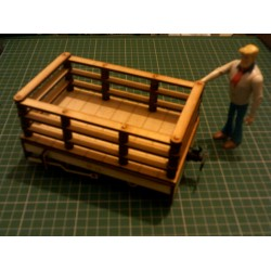 Seven Eighth Scale Industrial Slate Wagon