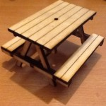 Seven Eighth Scale picnic benches Pk 3