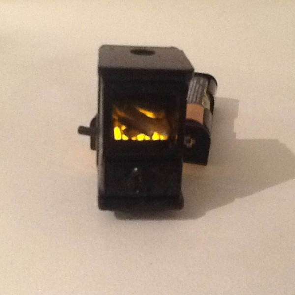 Log Burning Stove With Illumination