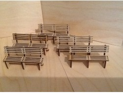 Pack Of Five Platform Bench Seats