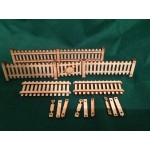 Seven Eighth Scale Picket Style Fencing and Gate Pack