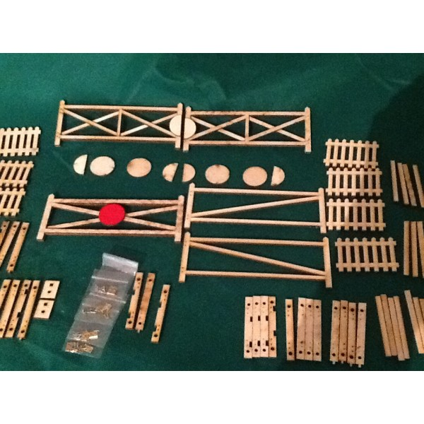 Seven Eighth Scale Double Level Crossing Gate Kit