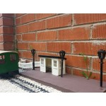 Four Station Lamp Posts Rectangular Head