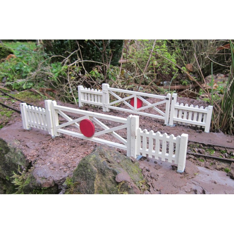 four large crossing gates and eight fence panels